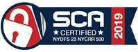 SCA Certified NYDFS 23 NYCRR 500 2019